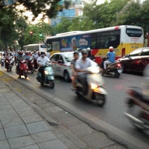 ハノイの交通状況