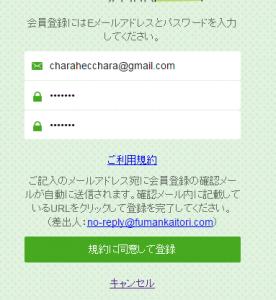 メール入力
