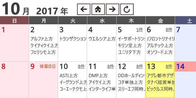 ジョルテカレンダー